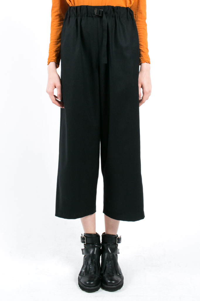 Wide Cropped Wool Pants