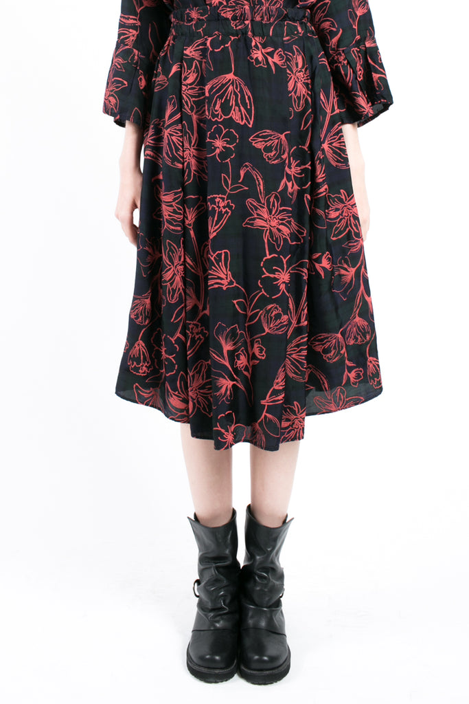 Red Flowers Skirt