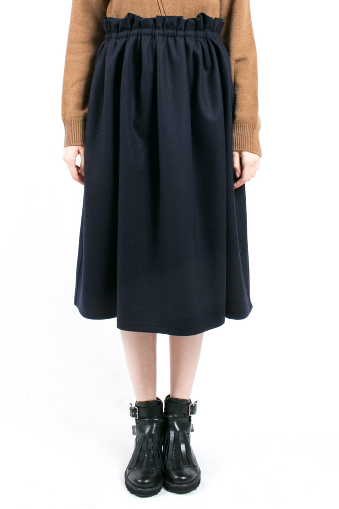 Flounced Wool Skirt