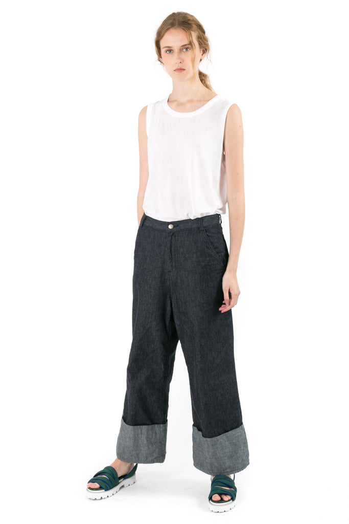 Oversize Turn-up Flare Jeans