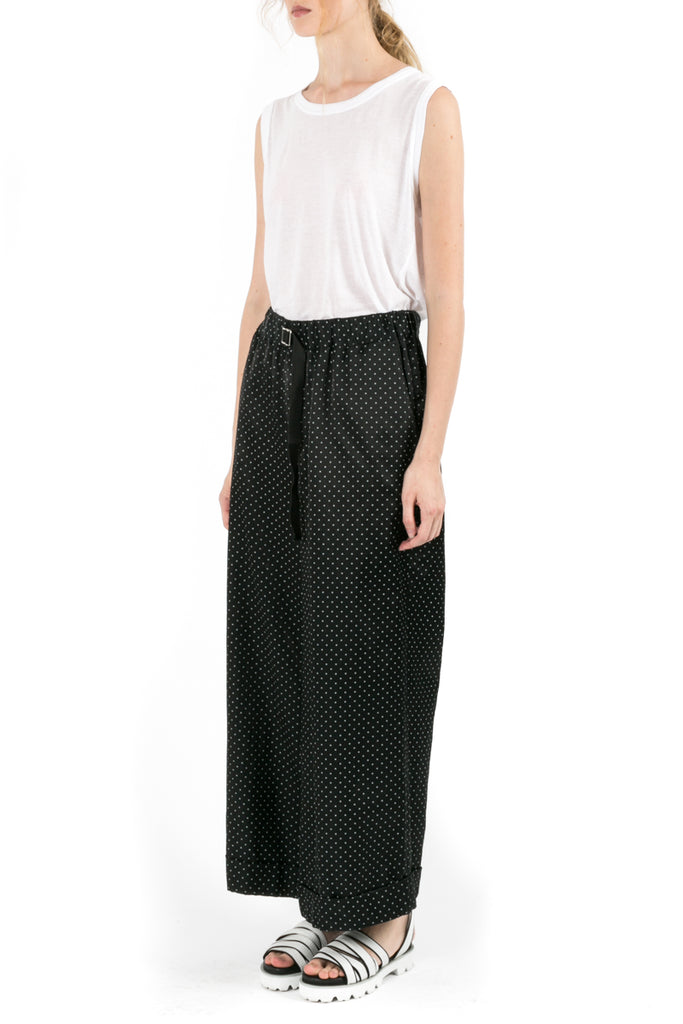 Polka-Dot Wide Pants