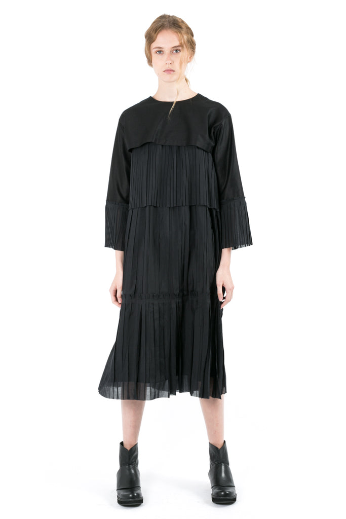 Long Pleated Bolero Dress