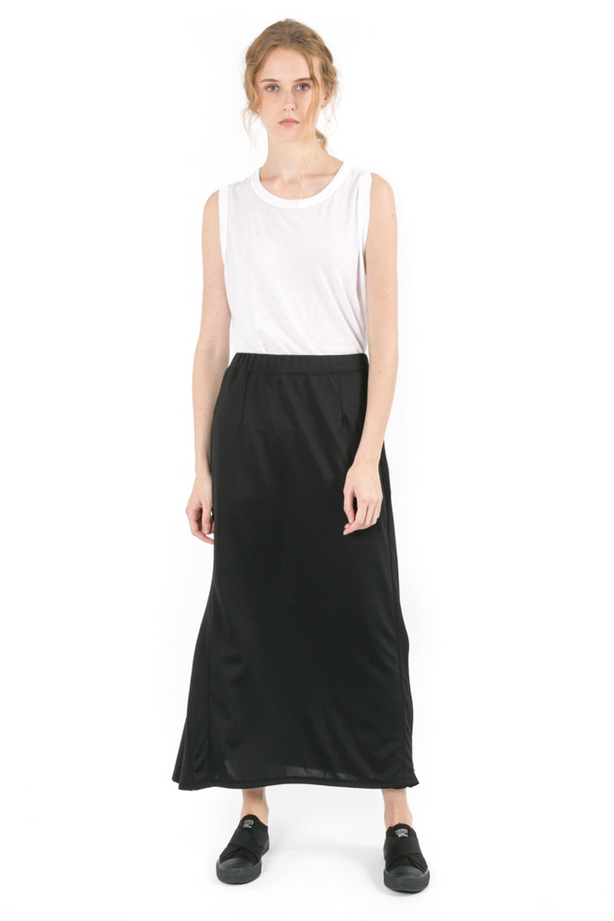 Zipped Maxi Skirt