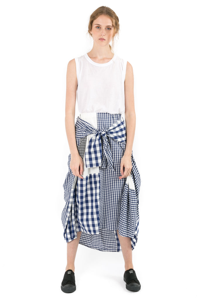 Gingham Knotted Skirt