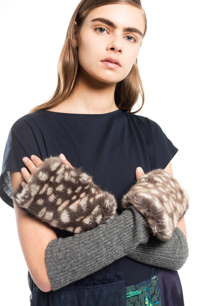Synthetic Fur Gloves