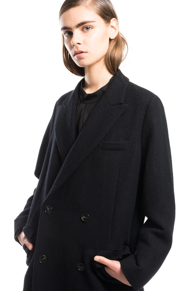 Check Tweed Long Coat