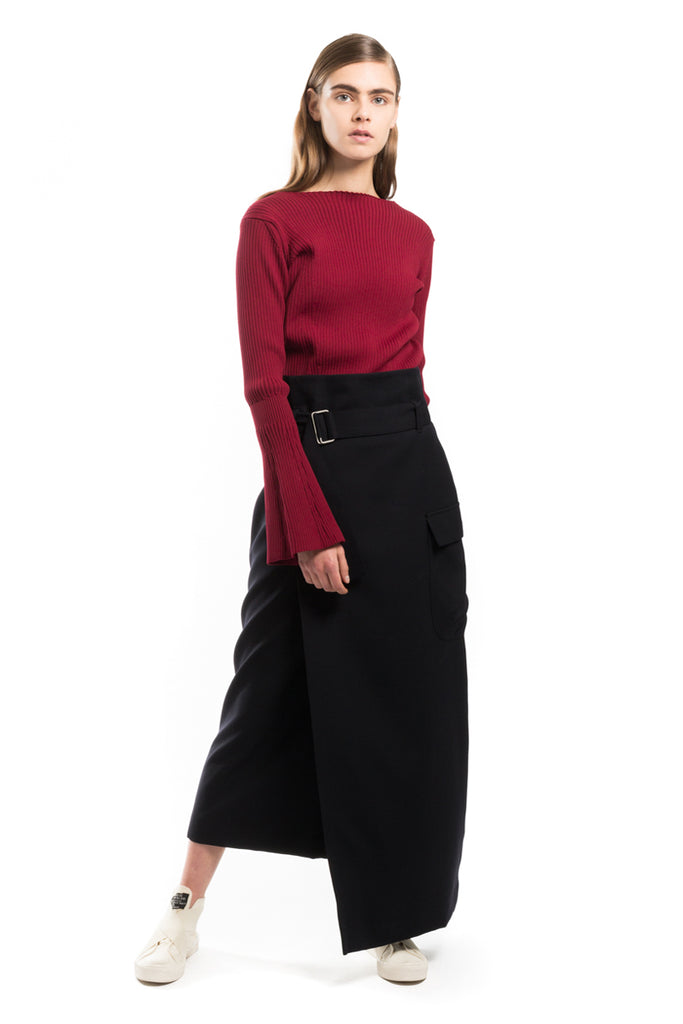 """Wool Wrap"" Skirt"