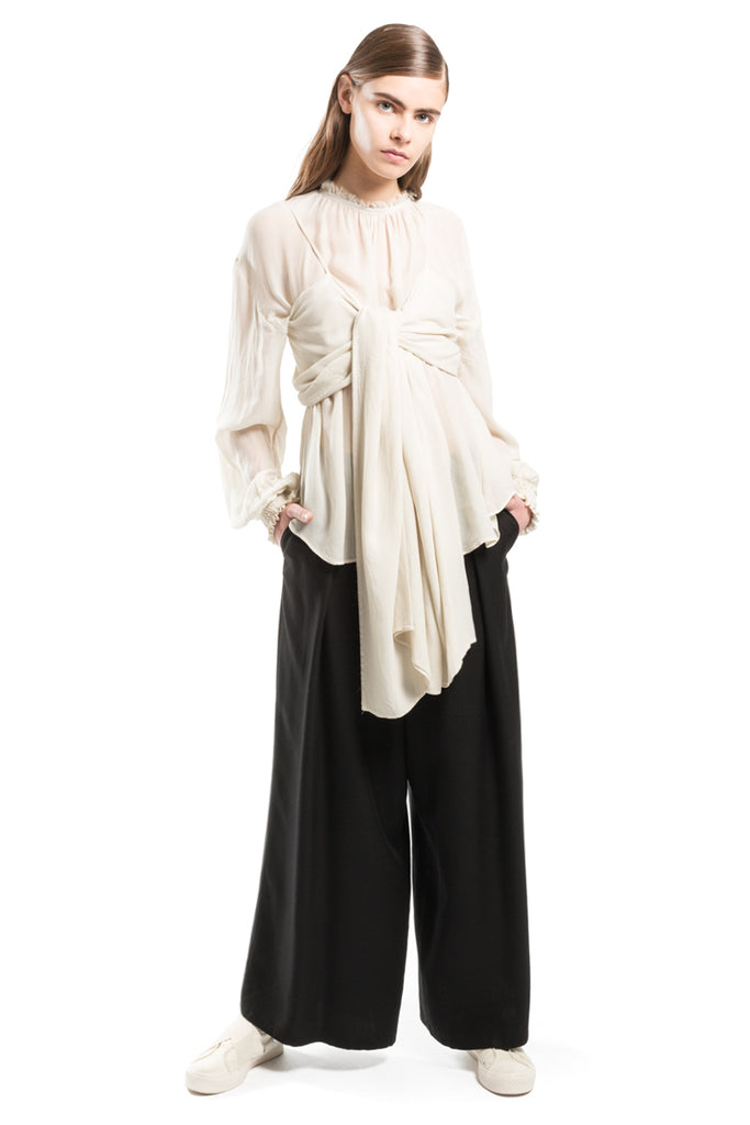 Oversize Aerial Knotted Top