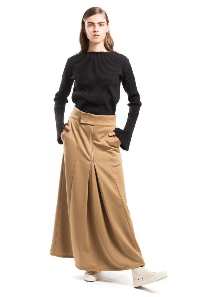 Wide Pleated Skirt