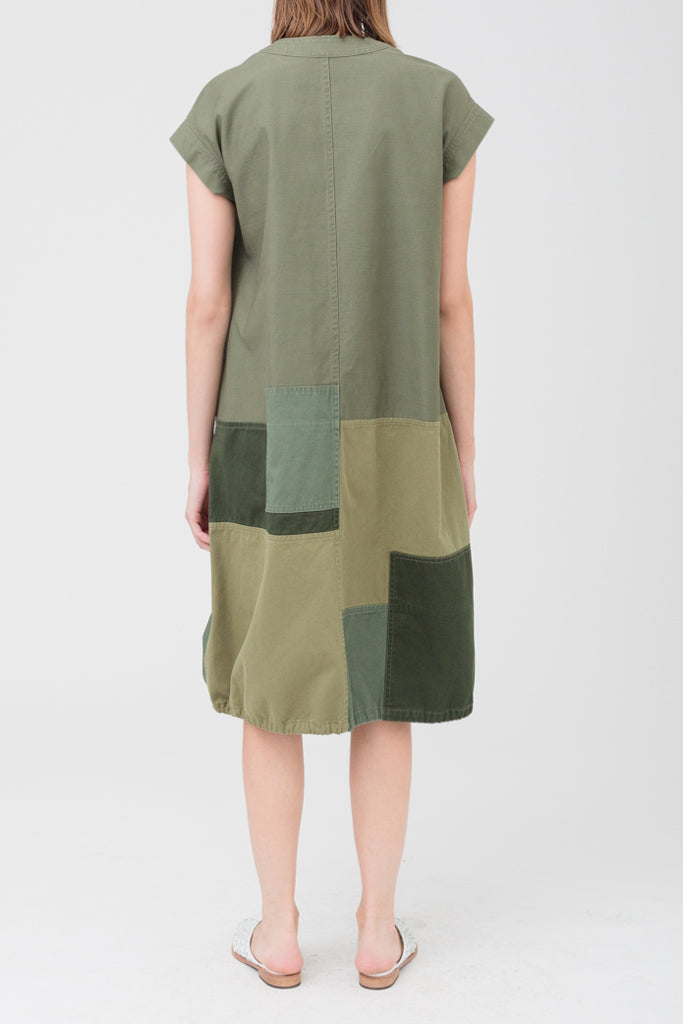 Patchwork Military Dress