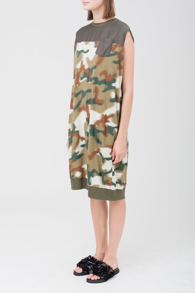 Camouflaged Jacquard Dress