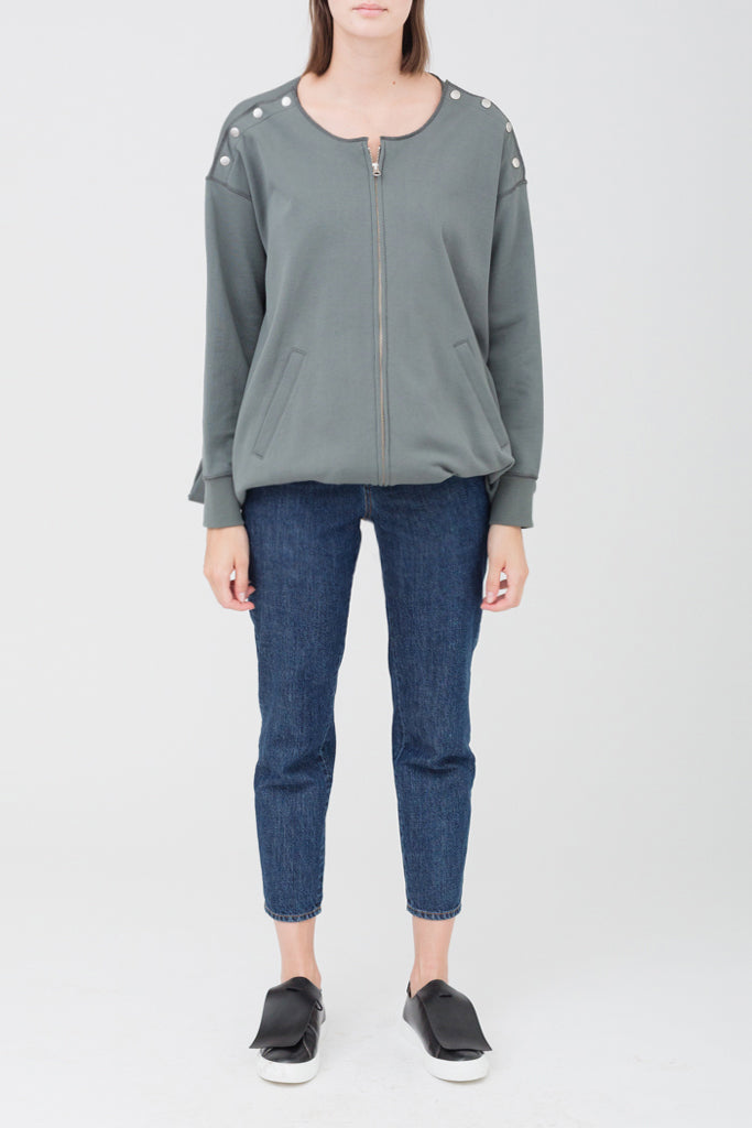 Three Ways Zipped Sweatshirt