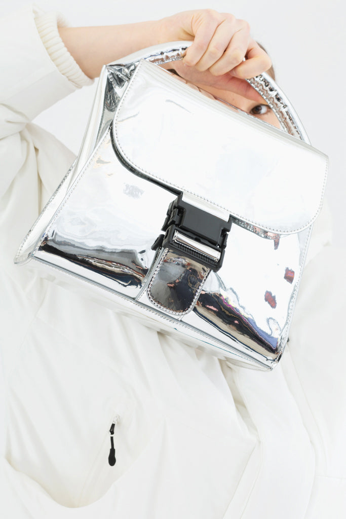 Silver Buckled Bag
