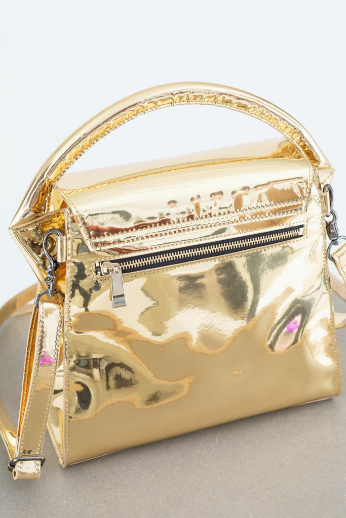 Gold Small Buckled Bag