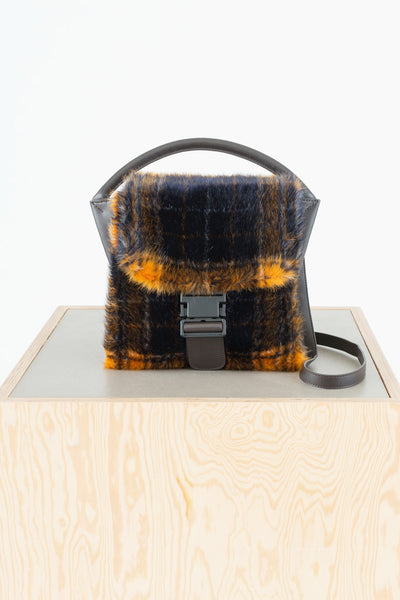 Fur Medium Buckled Bag