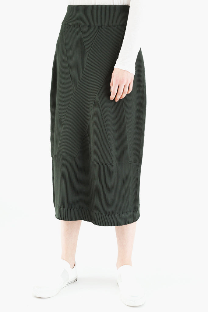 Stretch Rib Skirt