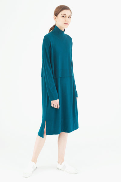 Trompe L'Oeil Wool Dress