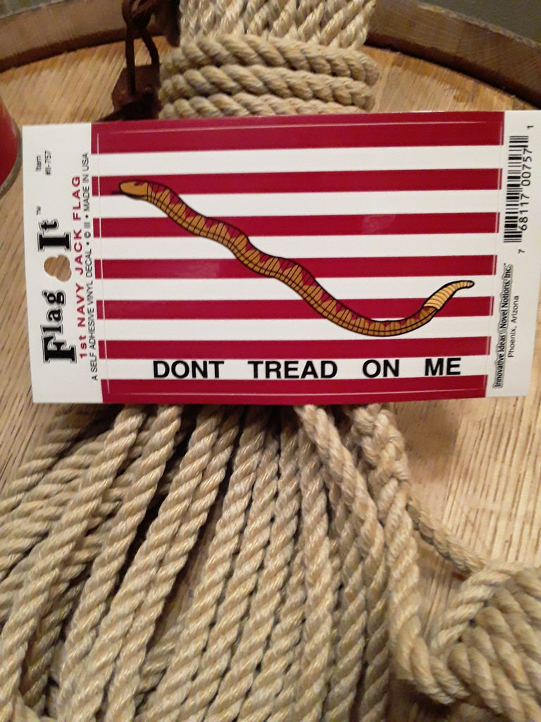 1st Navy Jack Flag Decal