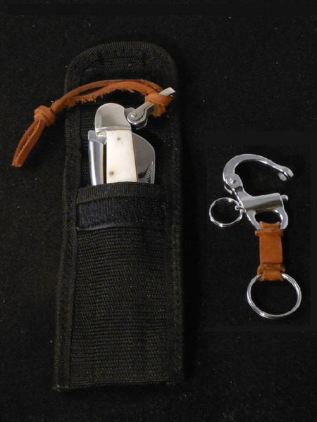 Captain's Rigging Knife with Sheath & Snapshackle Key FOB