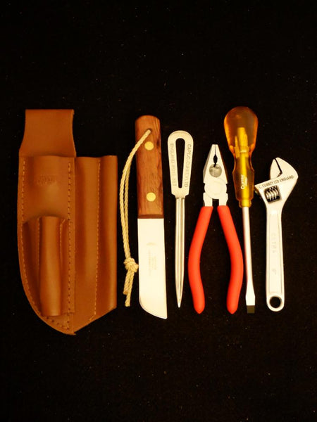 Captain Currey 5 piece Rigger's Knife & Tool Sheath Kit