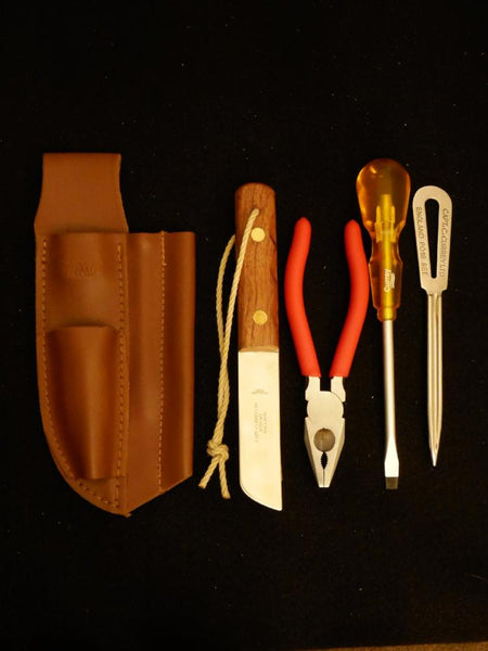 Captain Currey 4 Piece Rigging Knife & Tool Set with Sheath