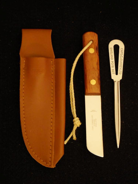 Currey Riggers Kit with Knife, Marlin Spike & Sheath. Morris & Barth