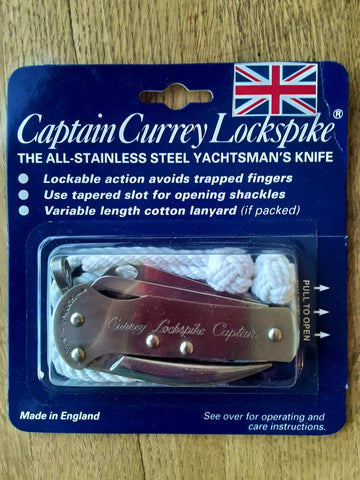 Currey Captain Lockspike Rigging Knife at SHIPCANVAS