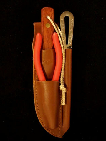 3-piece Captain Currey Rigging Knife Kit with Marlinespike, Pliers + Sheath