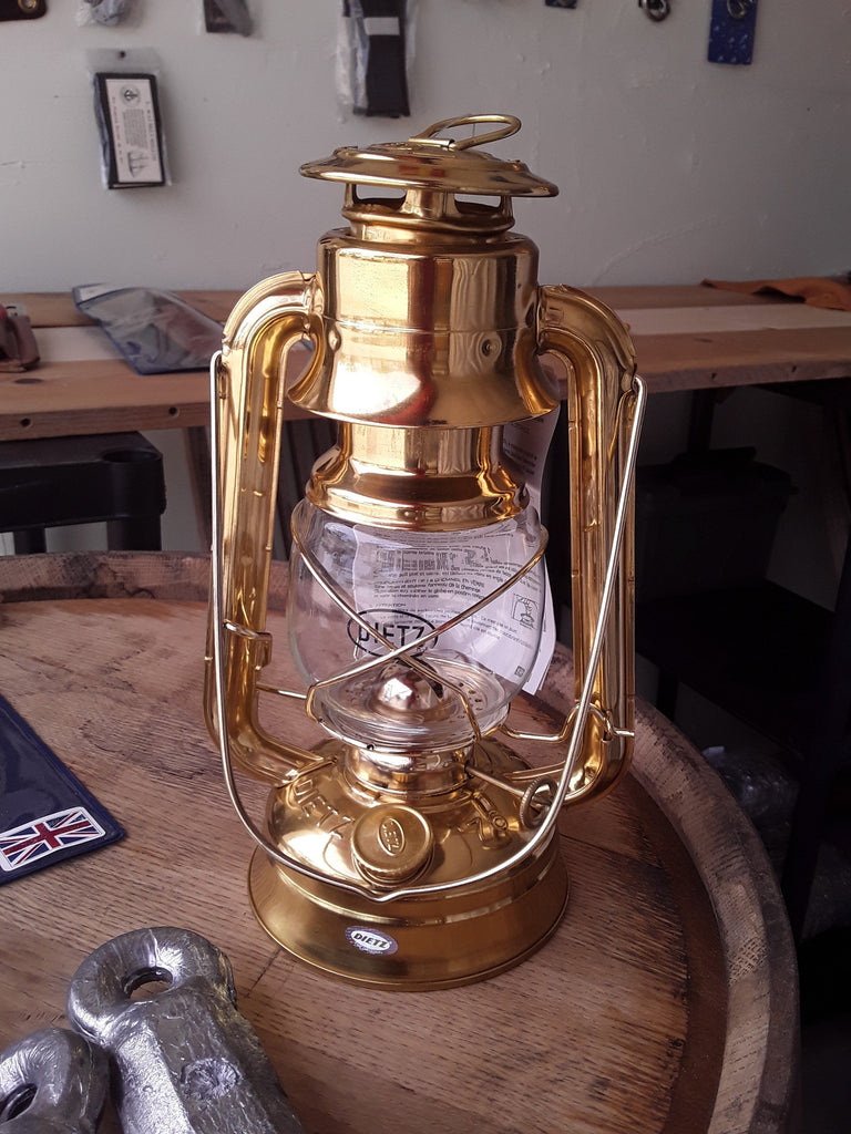 Dietz '76 Hurricane Lamp Solid Brass at SHIPCANVAS