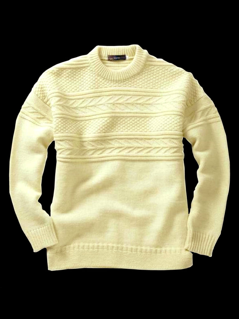 Guernsey Sweater - 100% Pure British Wool Fisherman's Sweater