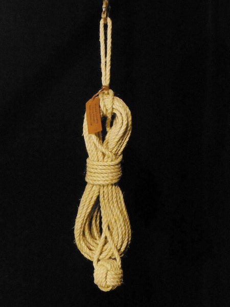 Hemp Rope Heaving Line w/ Monkey Fist - M&B SHIPCANVAS CO. - Rigging