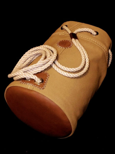 Oil-Tanned Leather Bottom on Rum Runner Seabag