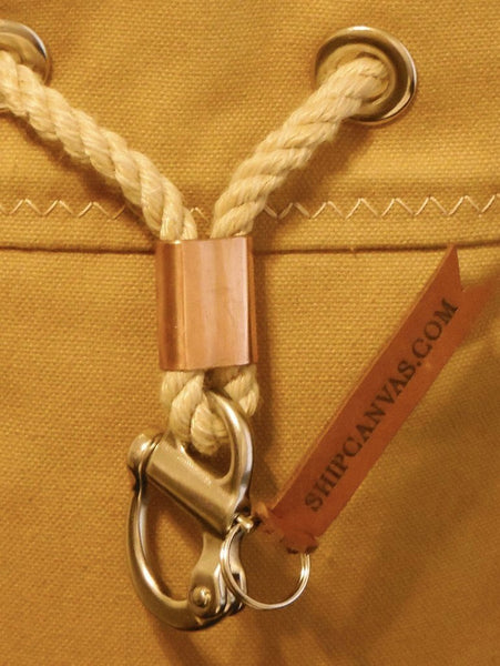 Rum Runner Seabag Set - Marine Snapshackle with solid copper slider