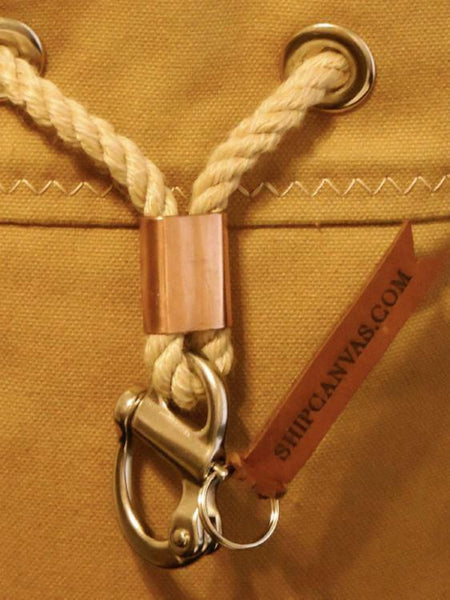 Rum Runner Seabag with Marine Snapshackle + Solid Copper Slider