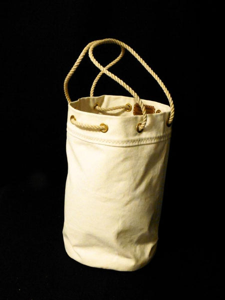 Waxed Canvas Ditty Bag - Shown as an upright Tote bag