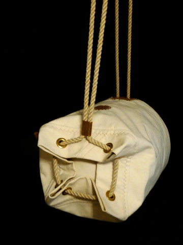 Waxed Canvas Ditty Bag - Horizontal Duffel Bag