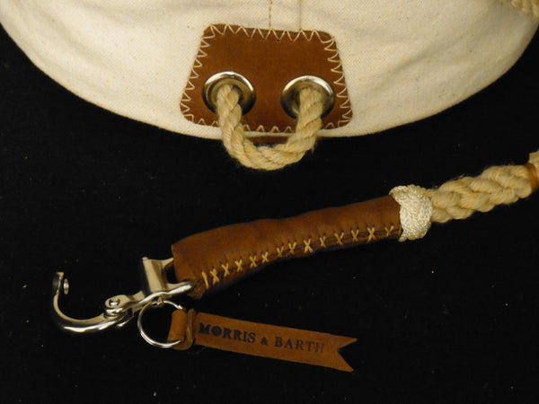 Windjammer Elite - Marine snapshackle with handsewn leather grip