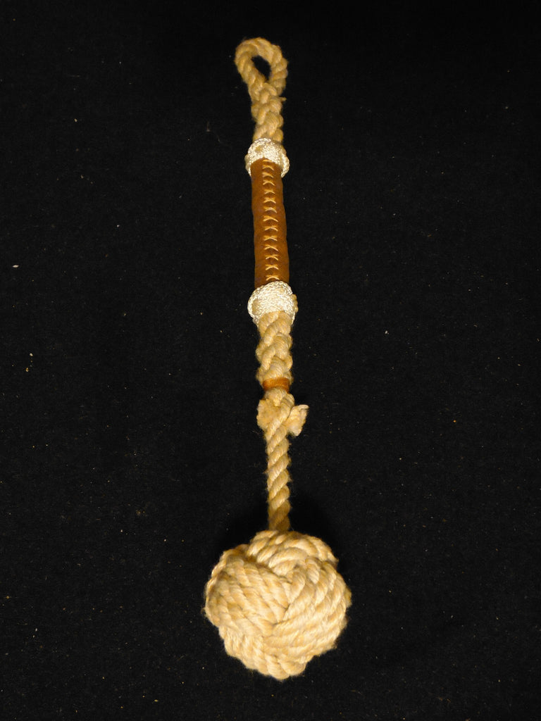 Monkey's Fist Knot with Leather Grip - Morris & Barth