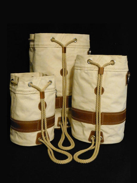 Morris & Barth Ditty Bags can be worn as a Backpack