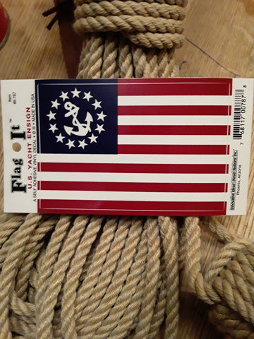 U.S. Yacht Ensign Flag Decal