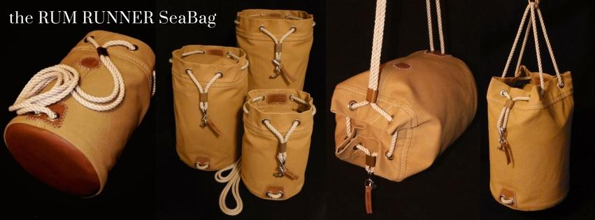 The Rum Runner Seabag with Leather Bottom