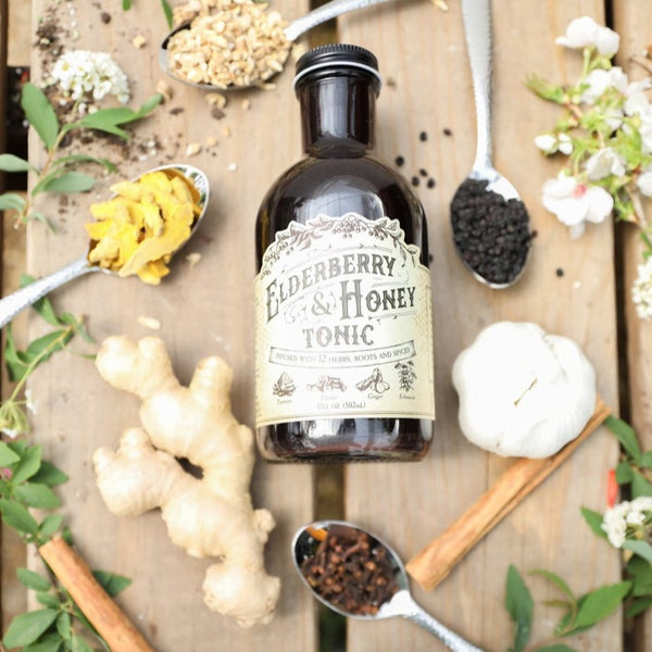 Organic Elderberry Honey Tonic by Roots and Leaves - Pluff Mud Mercantile