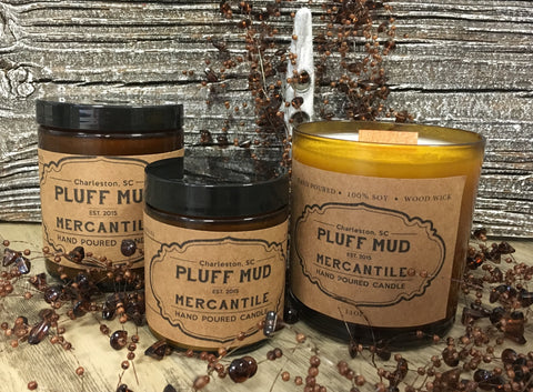 """Aunt Bethany""  Christmas Scent Hand Poured Soy Candles - Pluff Mud Mercantile"