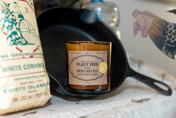 """Cornbread"" Hand Poured Soy Candle - Pluff Mud Mercantile"