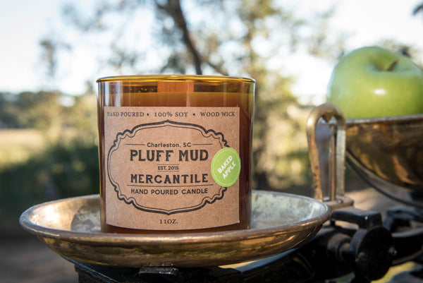 """Bourbon Maple Apple"" Hand Poured Soy Candle - Pluff Mud Mercantile"