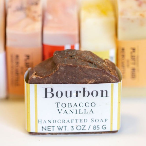 Bourbon Tobacco Vanilla Handcrafted Soap - Pluff Mud Mercantile
