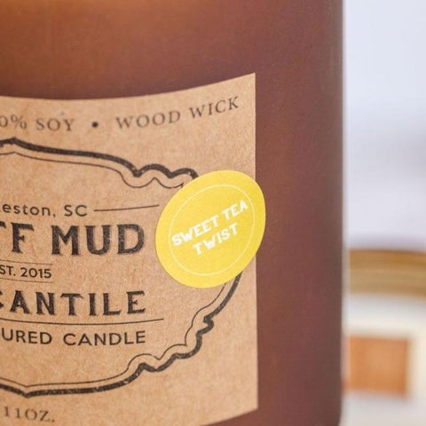 """Sweet Tea Twist""  Hand Poured Soy Candle - Pluff Mud Mercantile"