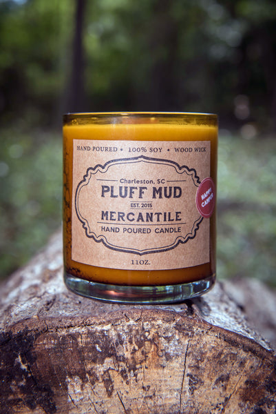"""Happy Camper"" Hand Poured Soy Candle - Pluff Mud Mercantile"