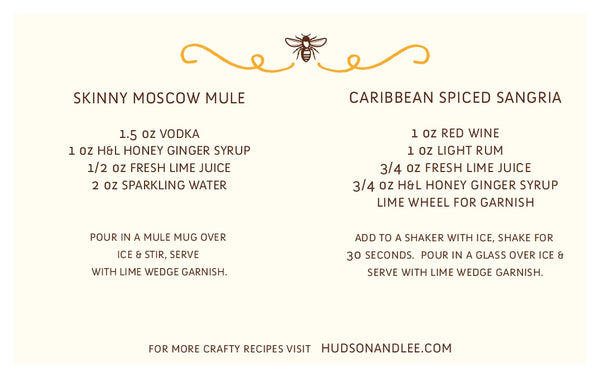 Ginger Spice Honey Simple Syrup ~ Hudson & Lee - Pluff Mud Mercantile
