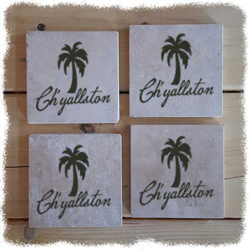 Ch'yallston Stone Coaster Set - Pluff Mud Mercantile